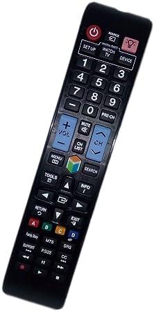 Sustituir mando a distancia compatible para Samsung UN40ES6100 F aa5900652 a UN46ES6100 un55es6100 F un60es6100fxza todos LCD LED HDTV Smart TV retroiluminación con botones: Amazon.es: Electrónica