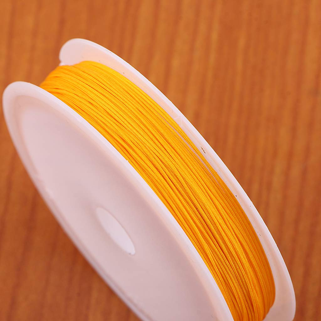 Rose 10M Per Roll Prettyia 2 Rolls of 0.4mm Jewelry Making Crafting Beading Cord Thread for Bracelets Necklaces Jewelry Beads Making