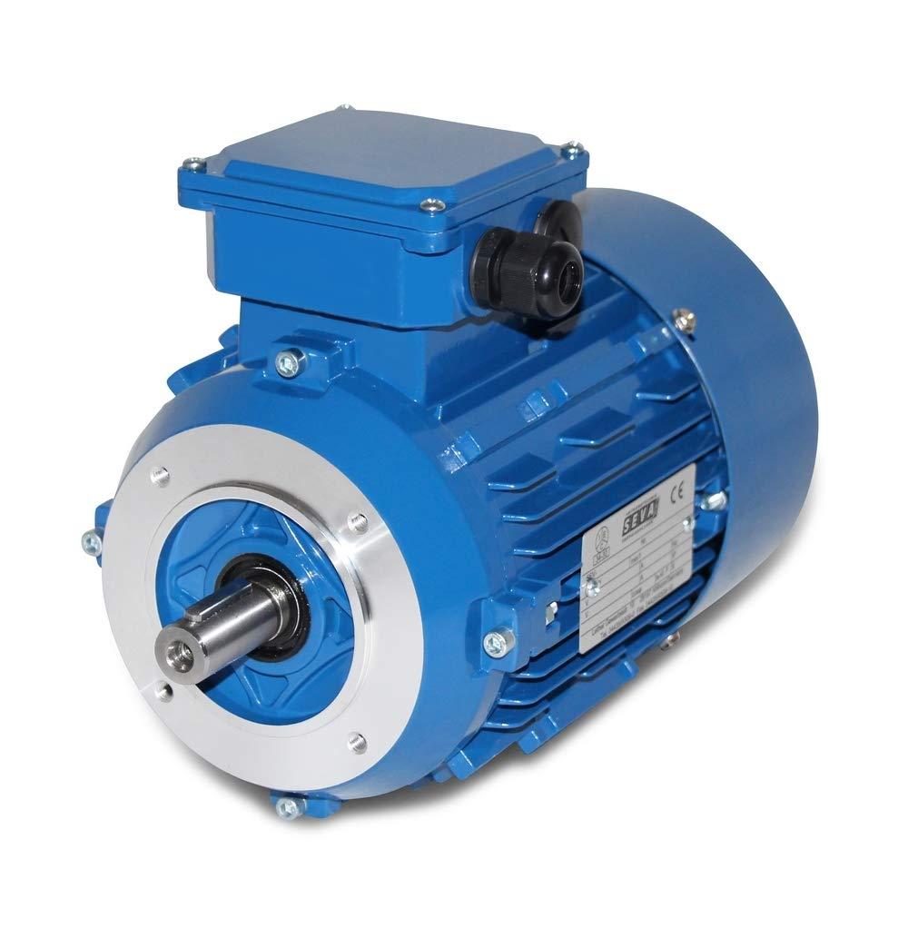 Motores electricos de ALTA CALIDAD Motor Electrico Monofasico 220v 0,55 KW - 0,75 CV 3000 RPM con brida B14 DOJA Industrial