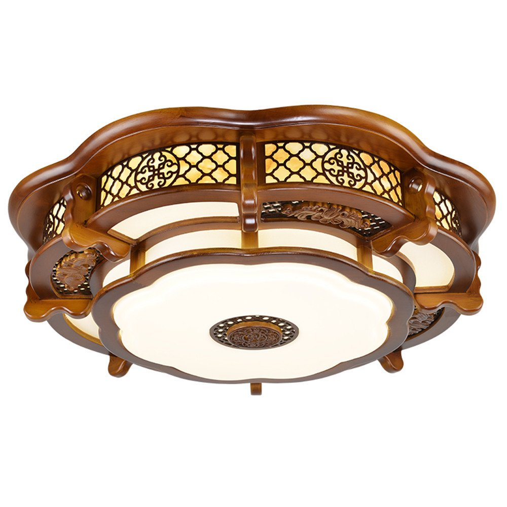 Leihongthebox Ceiling Lights lamp Chinese ceiling light round high wooden ceiling lamp lights arts emulation villa engineering Ceiling lamp for Hall, Study Room, Office, Bedroom, Living Room,600mm