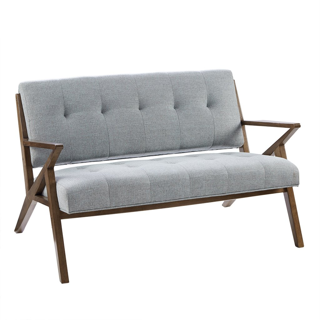 Ink+Ivy IIF18-0059 Rocket Accent Loveseat - Solid Wood, All Foam Two Deep Seat Settee Mid-Century Short Sofa - Retro Accent Loveseat For Living Room by Ink+Ivy