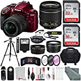 Nikon D3400 with AF-P DX NIKKOR 18-55mm f/3.5-5.6G VR, Total of 48 GB SDHC along with Deluxe Accessory Bundle