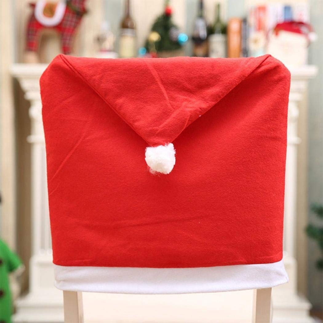 Amazon.com: Juego de 4 fundas para sillas de Navidad, diseño ...
