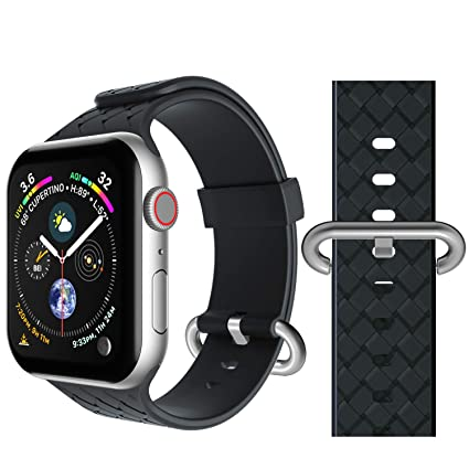 Band Compatible for Apple Watch 38mm 40mm, Seiaol Sport Bands Compatible iWatch Series 4, Series 3, Series 2, Series 1 Waterproof Adjustable Easy ...