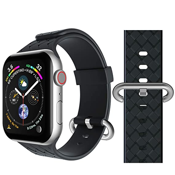 official photos a8565 f2b69 Band Compatible for Apple Watch 38mm 40mm, Seiaol Sport Bands Compatible  iWatch Series 4, Series 3, Series 2, Series 1 Waterproof Adjustable Easy ...