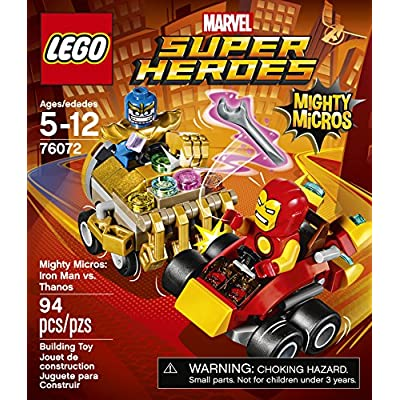 LEGO Super Heroes Mighty Micros: Iron Man Vs. Thanos 76072 Building Kit: Toys & Games