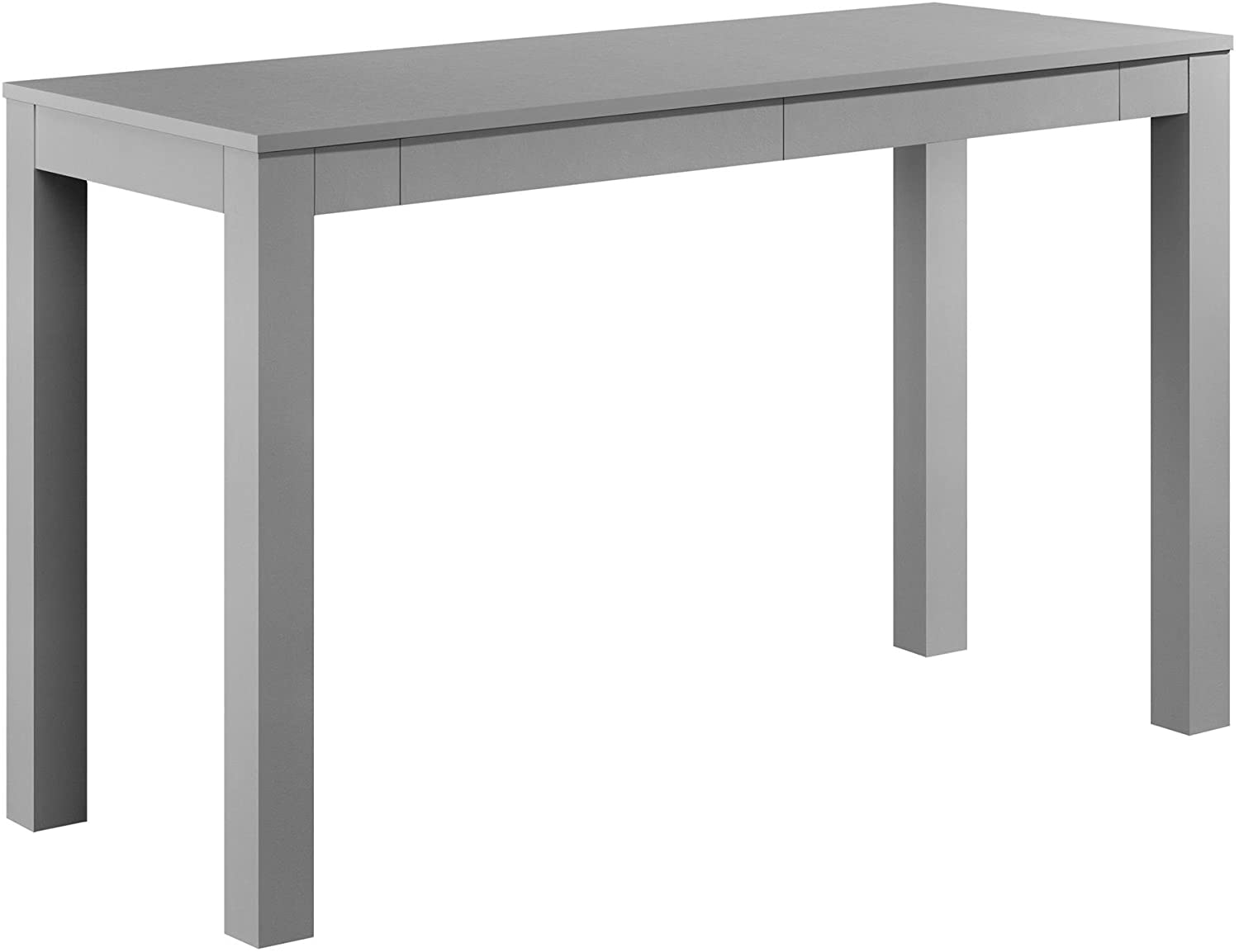 Ameriwood Home Parsons Xl Desk with 2 Drawers, Gray Gray