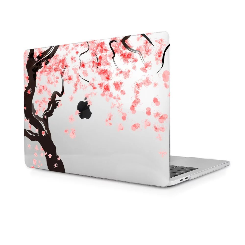 TwoL MacBook Pro 15 Case 2018 2017, Ultra Slim Hard shell Plastic Protective Case Cover for MacBook Pro 15 Touch Bar A1707/A1990 (Cherry Blossoms)