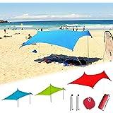parasol nomade plage sun leaf avec panneau solaire 16 w. Black Bedroom Furniture Sets. Home Design Ideas