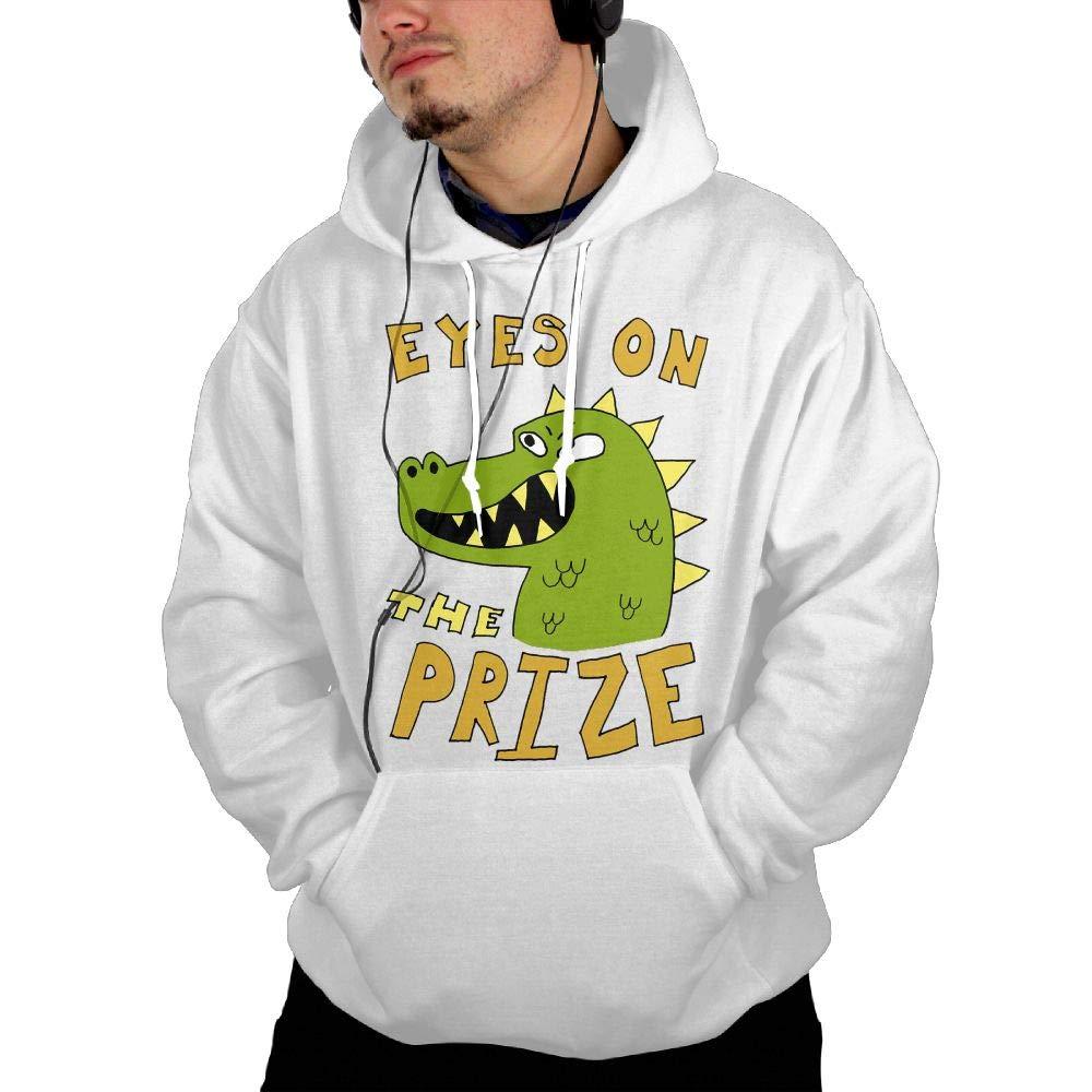 Shenigon Eyes On The Prize Dinosaur Mens Hoodie Sweatshirt with Pocket