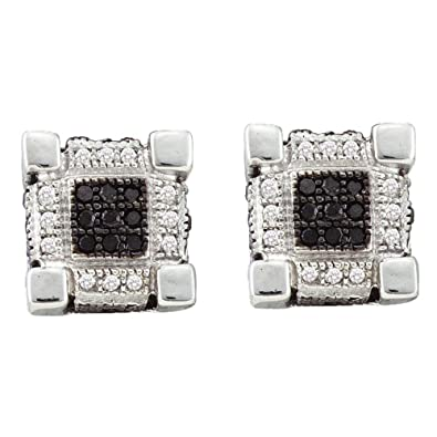 9d3c25e35a90 Pendientes de oro blanco de 10 quilates para hombre con forma de cubo de diamante  redondo en 3D