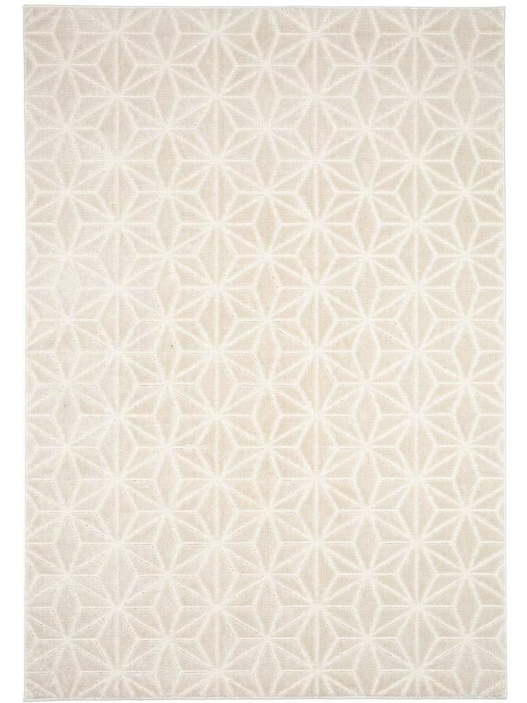 Benuta Teppich Diamond Beige 140x200 cm   Moderner Teppich für Wohn- und Schlafzimmer