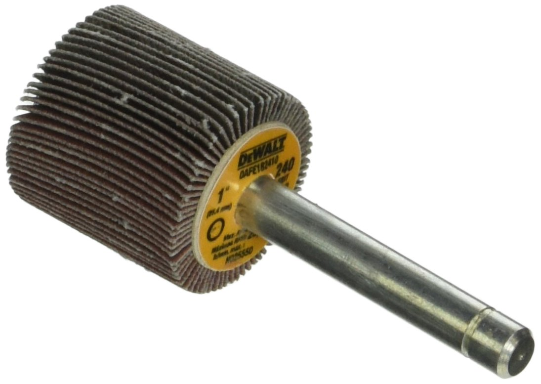 DEWALT DAFE1B2410 1-Inch by 1-Inch by 1//4-Inch HP 240g Flap Wheel