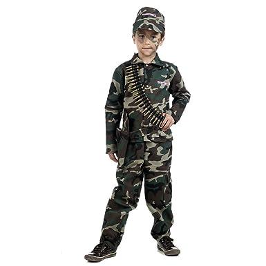 Elbenwald Disfraz de soldado para niños traje camuflaje con ...