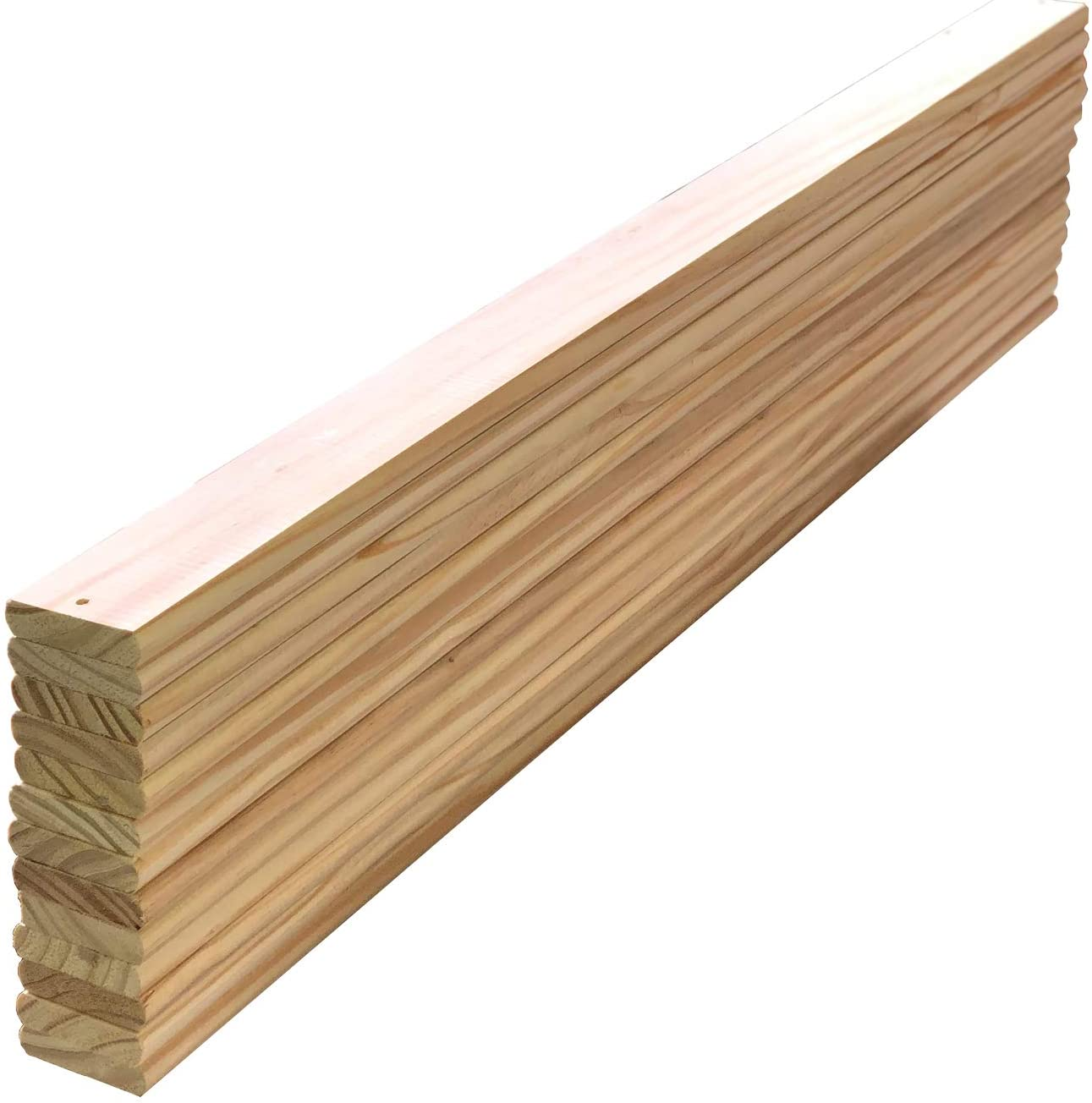 California King Size Bed Slats 71.87 inches Long (182.54 cm) x 2.75 inches Solid Pine Wood Wide Mattress Support Pack of 13 Count Replacement Spare Parts Custom Size Cutting Service (King, 71.87)
