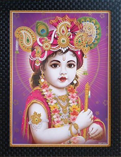 Buy Shree Handicraft BAL KRISHNA Krishna Bal Roop Framed