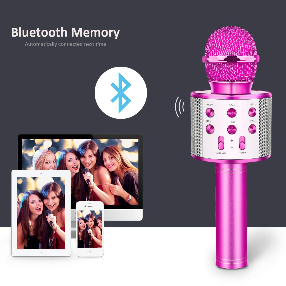 LET'S GO! Popular Toys for 4-12 Year Old Girls, DIMY Wireless Karaoke Microphone with Bluetooth Speaker Karaoke Microphone for Kids Top for Girls Age 4-12 Games Girls Age 4-12 Purple DMHK20 by LET'S GO! (Image #4)