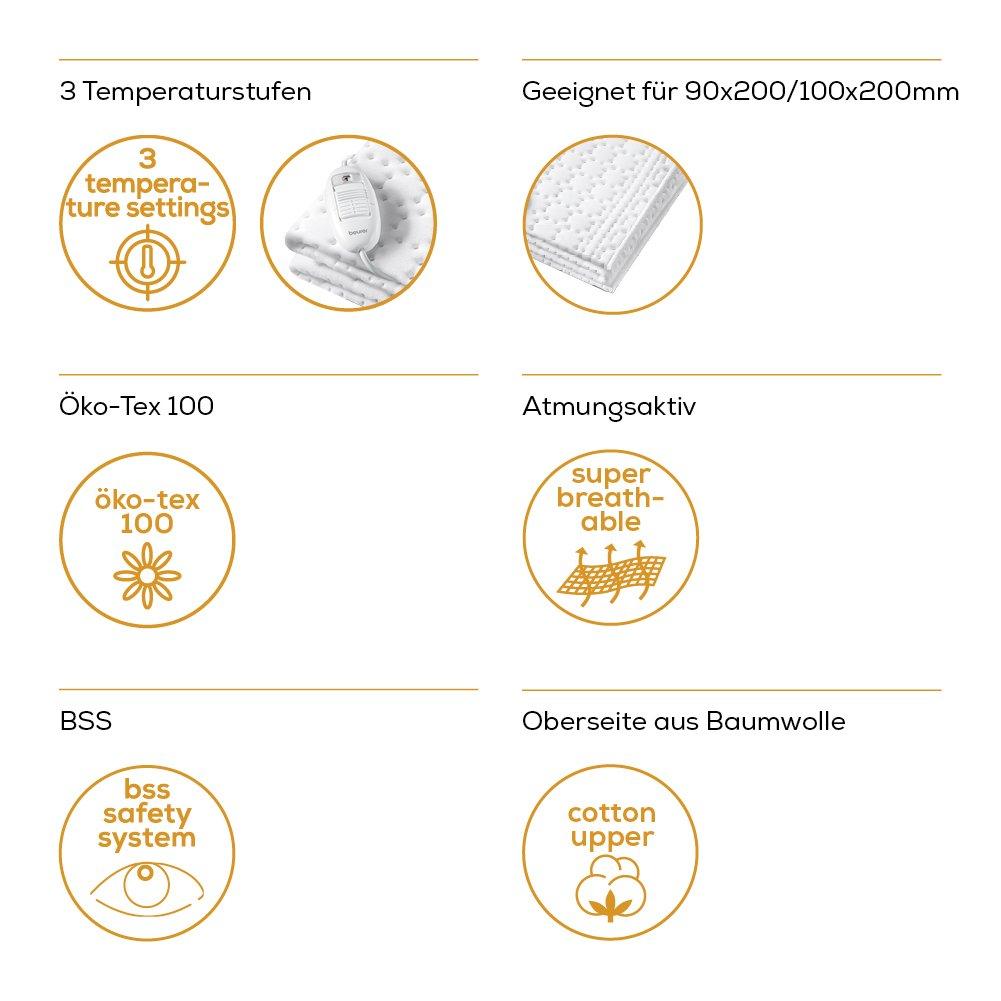 Beurer UB 30 Wärmeunterbett, mit 3 Temperaturstufen und Überhitzungsschutz Beurer GmbH 306.00