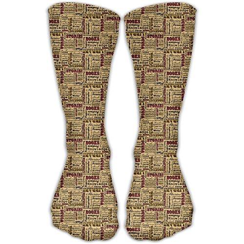 A Book Lover Medley Graduated Compression Socks For Women And Men - Best Medical, Nursing, Travel Running (Male Medley)