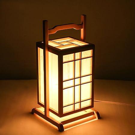 Lámparas de Escritorio Lámparas de Mesa y Mesilla lámparas portátiles de madera japoneses, lámparas de pie
