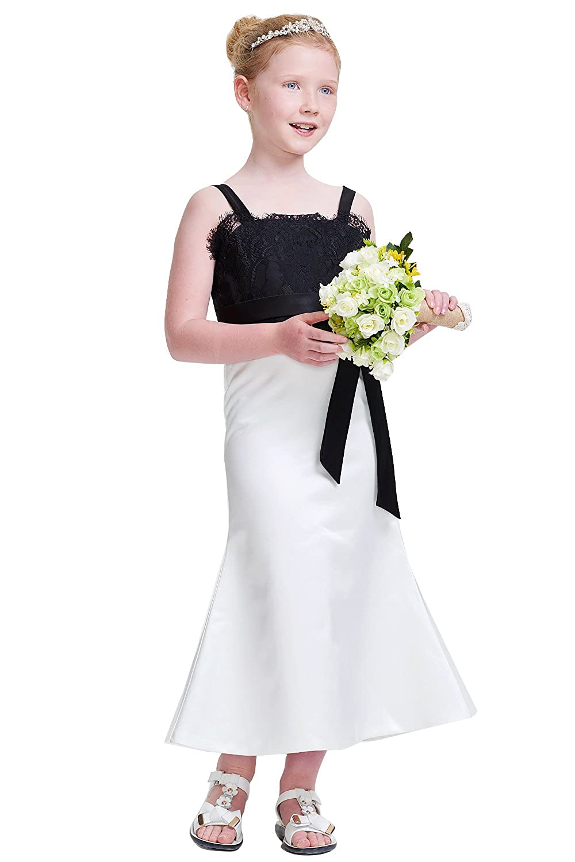 Amazon.com: PROMLINK Girls Top Lace Mermaid Ribbon Flower Dress Bowknot for Wedding Prom: Clothing