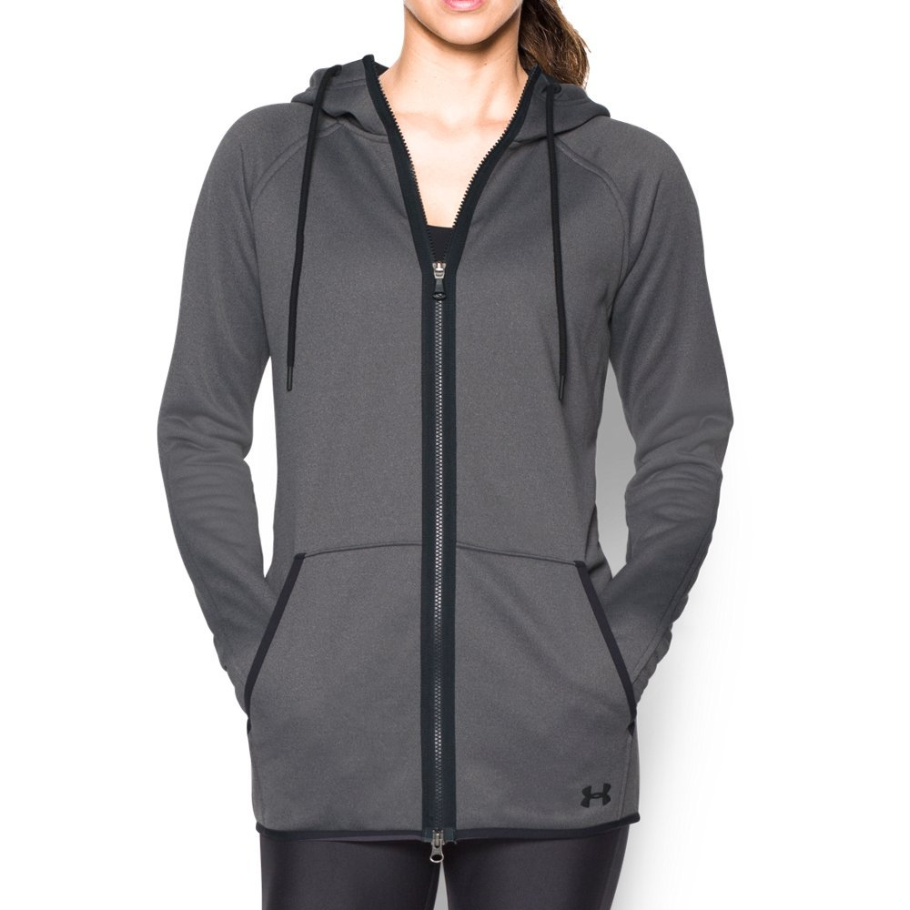 Under Armour Women's Storm Armour Fleece Long Full Zip, Carbon Heather (090), X-Small