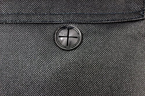 Unisex compacto bolsa de mensajero/bolso bandolera, bolsa de hombre, música, tejido, vacaciones, viajes negro