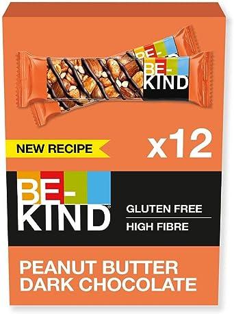 Oferta amazon: BE-KIND Barrita de Frutos secos con mantequilla de cacahuete y chocolate negro, paquete de 12 unidades