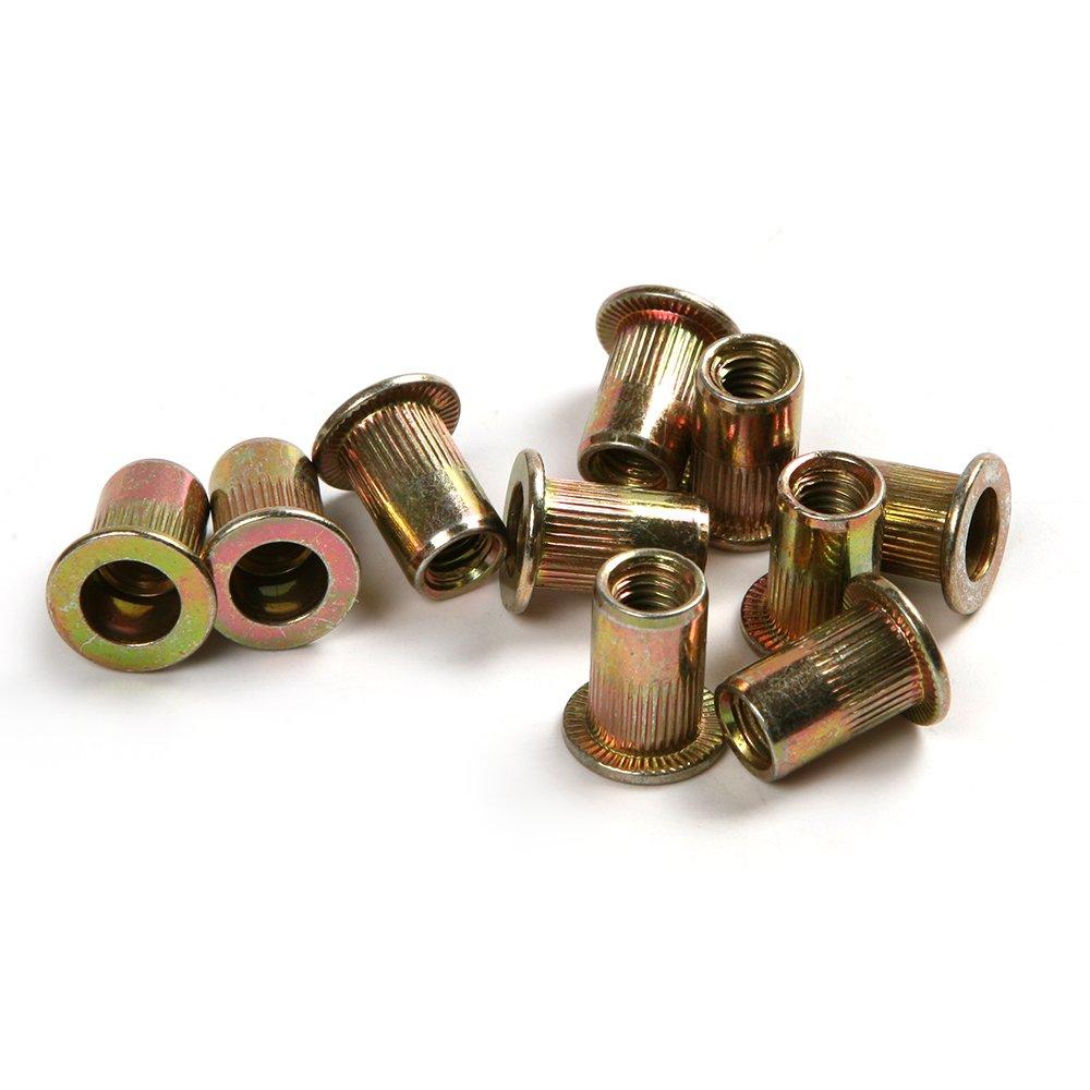 50PCS/lot M4-M10 Zinc Coated Steel Rivets Kit Vertical thread