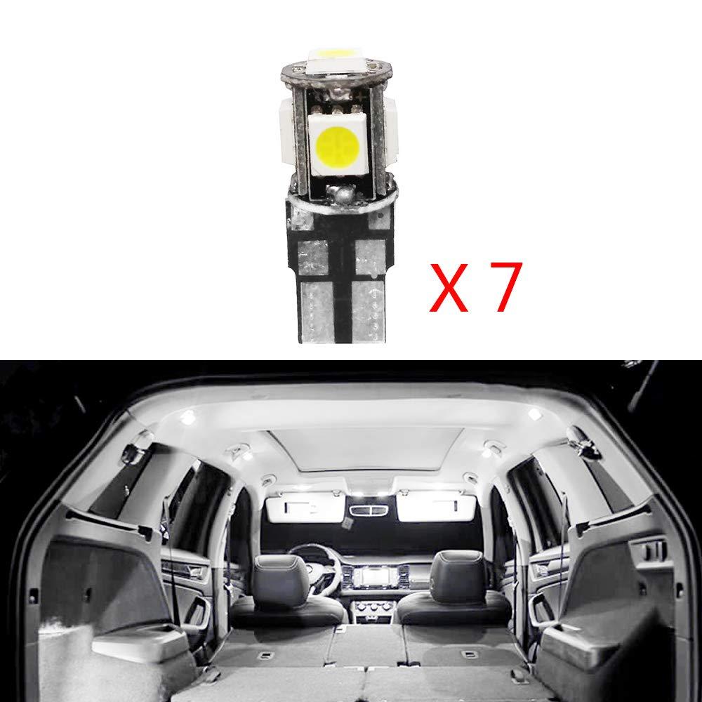Cobear para 508 Super Brillante Fuente de luz LED Interior L/ámpara de Coche Bombillas de Repuesto Blanco Paquete de 12