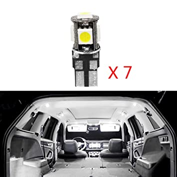 Cobear para 2008 3008 301 307 308 408 Super Brillante Fuente de luz LED Interior Lámpara de Coche Bombillas de Repuesto Blanco Paquete de 7: Amazon.es: ...