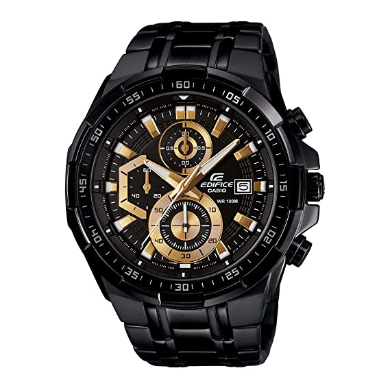 Buy Casio Edifice Stopwatch Men s Chronograph EFR-539BK-1AVUDF (EX187)  Online at Low Prices in India - Amazon.in 849b7f63f
