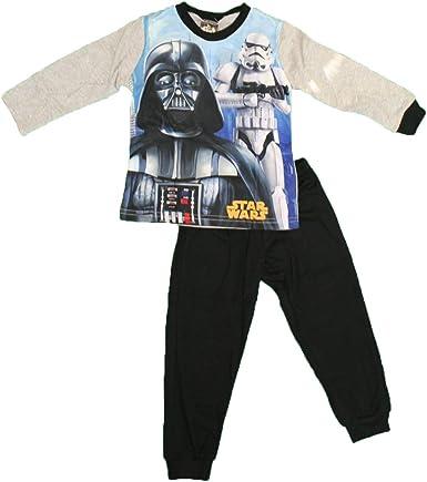 Star Wars - Conjunto de Pijama Alto y bajo para niño Gris ...