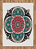 Arabian Area Rug by Ambesonne, Oriental Ornate Embriodery Style Floral Ethnic Illustration of Old Eastern Artistic, Flat Woven Accent Rug for Living Room Bedroom Dining Room, 5.2 x 7.5 FT, Multicolor