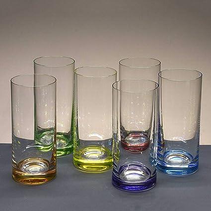 Set 6 CRISTAL DE COULEUR WHISKY VERRES CRISTAL verres verres whisky