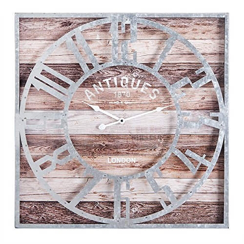 Utopia Alley Oversized Roman Square Wall Clock -24