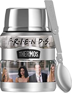 Friends Group Shot THERMOS STAINLESS KING Stainless Steel Food Jar with Folding Spoon, Vacuum insulated & Double Wall, 16oz