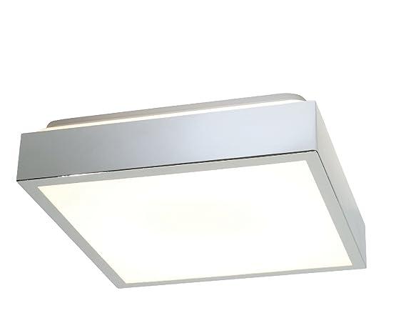 Lampadari E Plafoniere Per Bagno : Saxby cubita cromo quadrato fluorescenti a filo bagno plafoniera