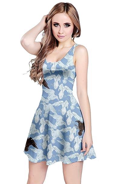 CowCow Womens Light Blue 2 Sleeveless Dress, Light Blue - XS