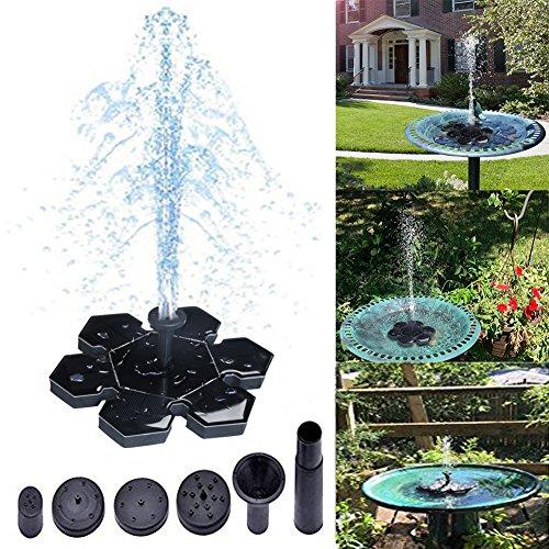(Solar Fountain,Solar Powered Bird Bath Fountain Pump Water Pump New (Snowflake Bird Bath Fountain))