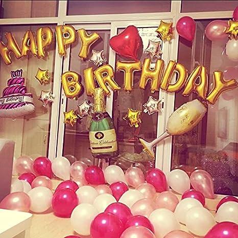 Juegos de globos /Feliz cumpleaños/Globos para Cumpleaños/ para Fiesta/Decoraciones Festivas/Decoración de Lujo/Colores Variados de Gran Tamaño de los ...