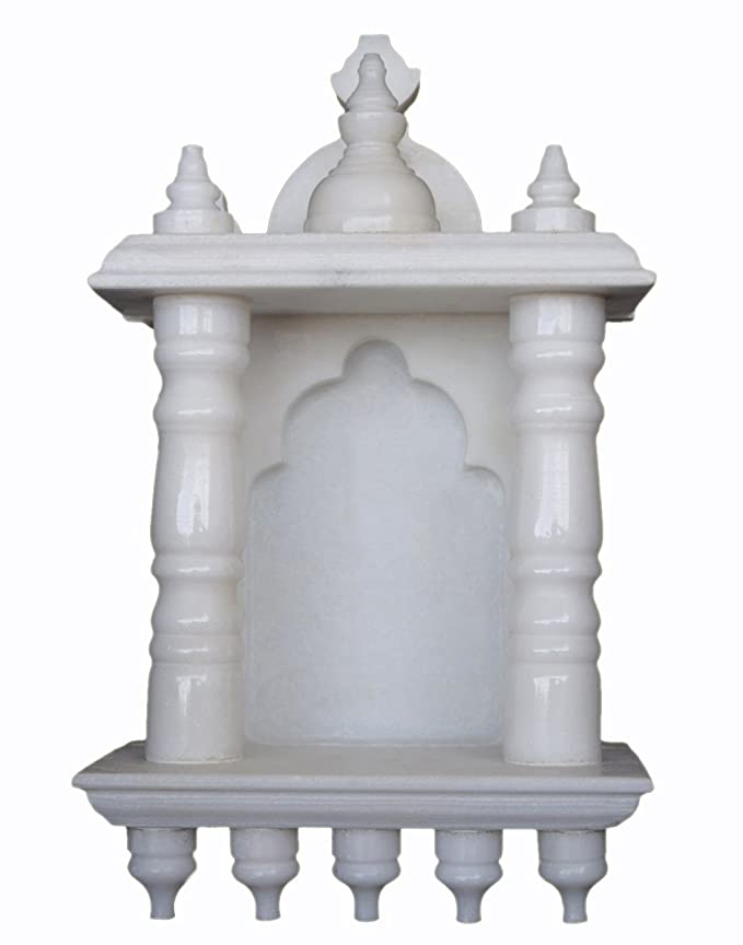 Buy eShilp White Marble Home Temple Pooja Mandir (15.2 cm x 9.5 cm x ...