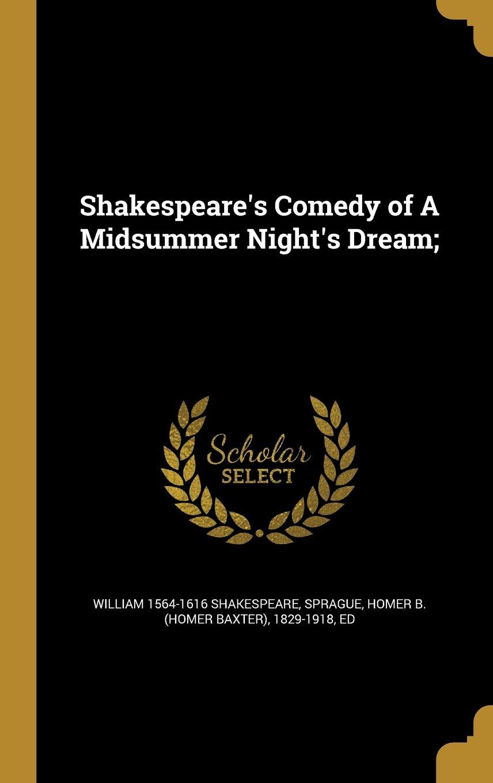Download Shakespeare's Comedy of a Midsummer Night's Dream; PDF ePub book
