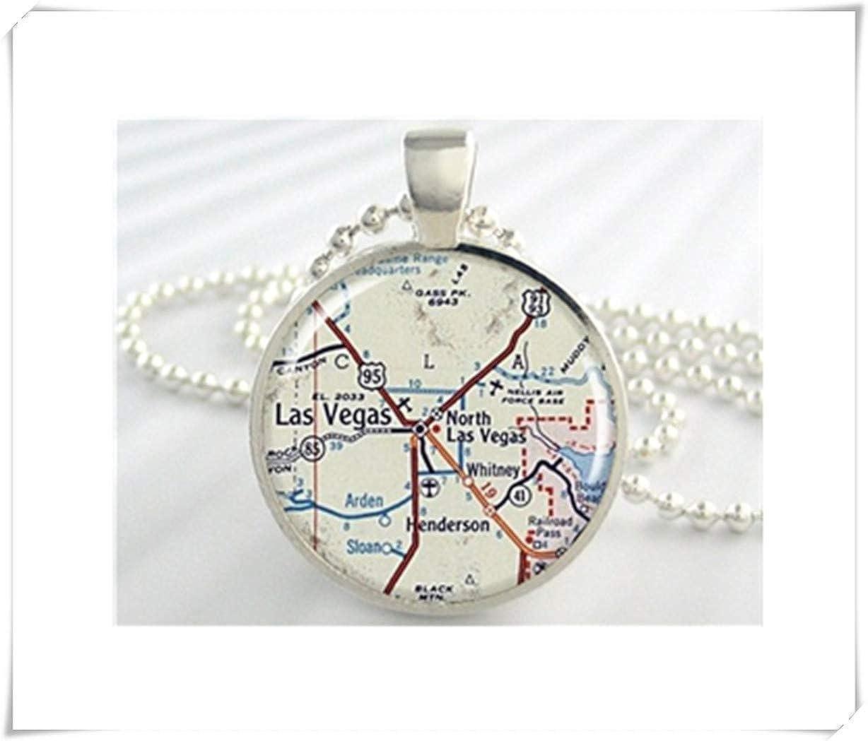 Amazon.com: we are Forever family Las Vegas Map Pendant, Las ...