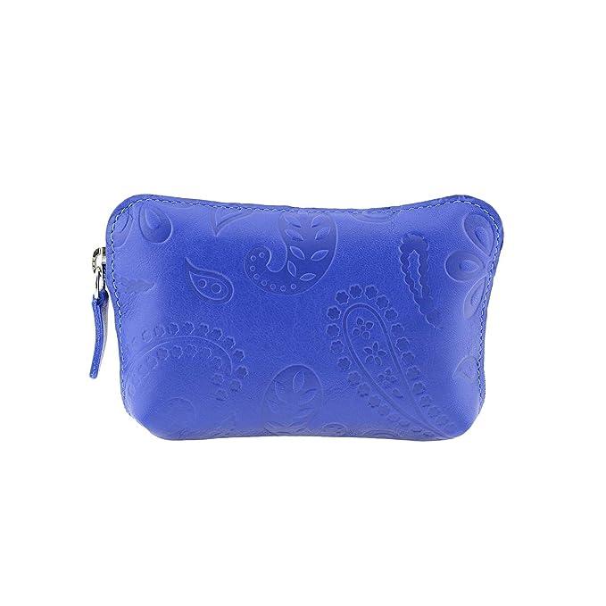 Monedero Piel Cachemir Talla: U Color: Azul: Amazon.es: Ropa ...