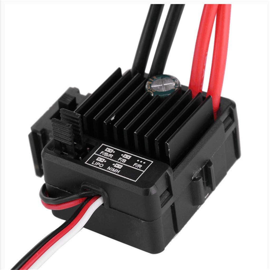 Waterproof 60A Brushed Esc Electronic Speed Controller Waterproof Dustproof Bec 6V//3A Output Switch Mode for 1//10 Rc Car ★Tianya
