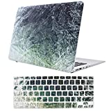11 inch macbook air cool cases - EGONE Macbook Air 13 Inch Case Model A1369/A1466-2 in 1 Plastic Hard Protective Shell Cover with Silicone Keyboard Skin for Macbooks Air 13'', Green Texture