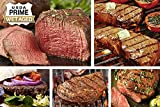 Classic Prime Steak Assortment - USDA Prime Filet, Sirloin, Strip, Ribeye, Beef Burgers & Seasoning - Chicago Steak Company