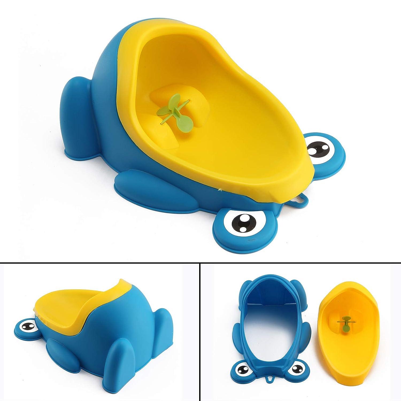 Quieting Frog Children Potty Toilet Training Kids Urinal Baby Boys Pee Trainer Bathroom Blue