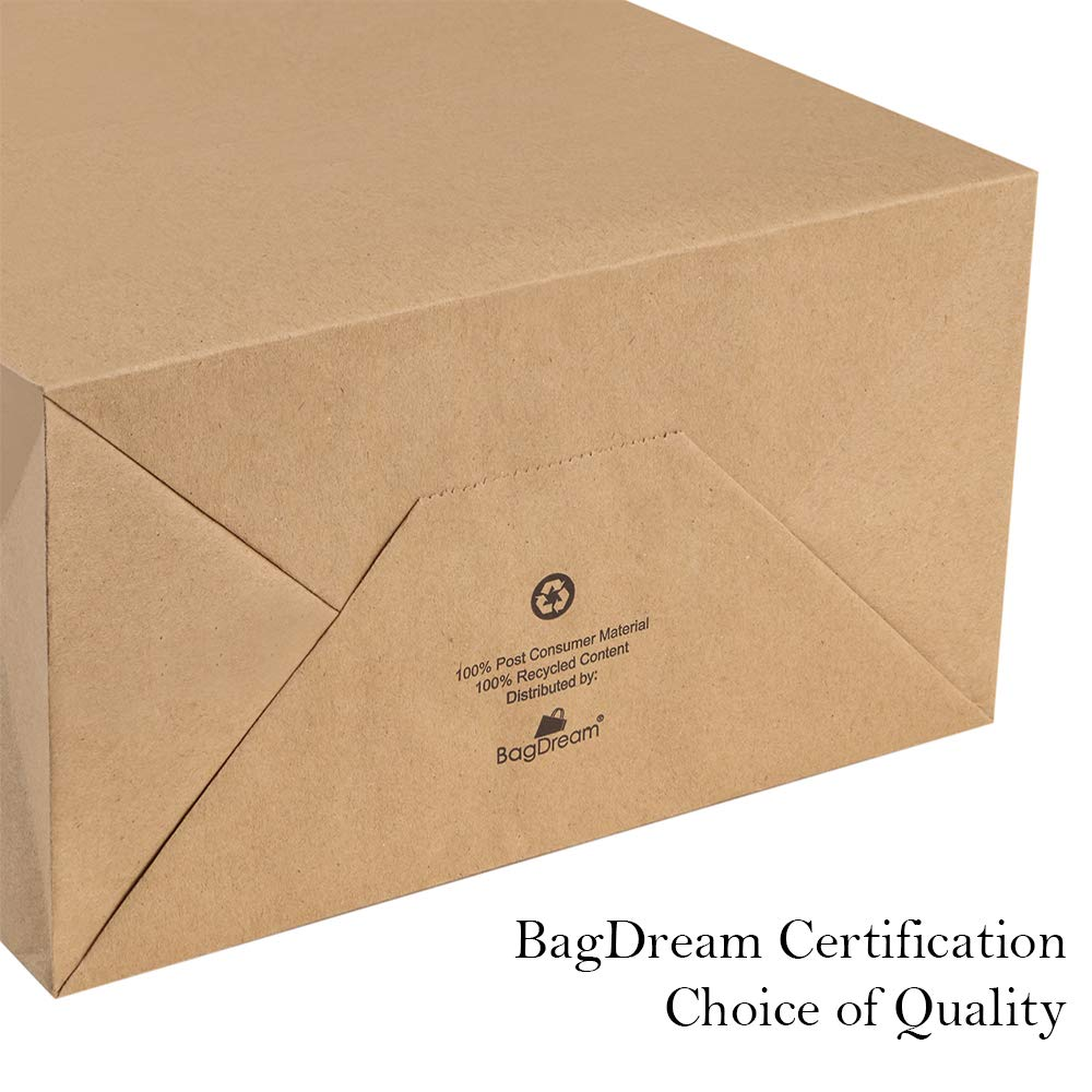 BagDream Kraft Paper Bags 5x3x8/& 8x4.25x10 Merchandise Bags Party Bags Paper Gift Bags with Handles Bulk 100/% Recyclable Brown Paper Bags Shopping Bags Craft Bags 50 Pcs Each Kraft Bags